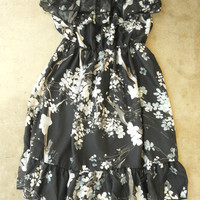 Ruffled Cherry Blossom Dress [2671] - $21.94 : Vintage Inspired Clothing & Affordable Fall Frocks, deloom | Modern. Vintage. Crafted.