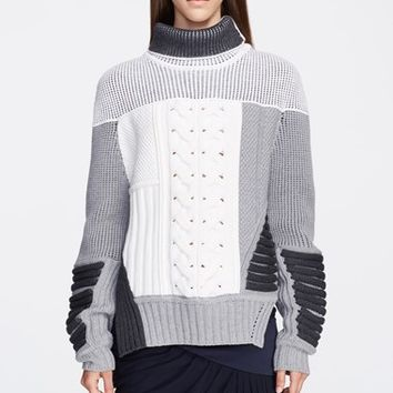 Women's Prabal Gurung Mixed Intarsia Knit Sweater