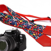 Butterfly camera strap. DSLR Camera Strap. Camera accessories. Nikon Canon camera strap.