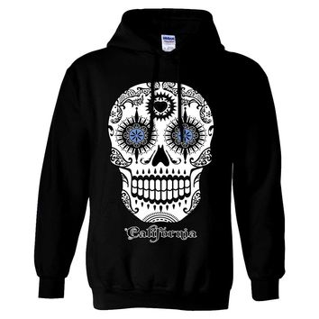 California Republic Sugar Skull Sweatshirt Hoodie