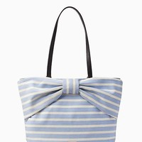 on purpose sailing stripe canvas bow tote