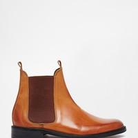 H by Hudson Sophie Tan Leather Chelsea Ankle Boots