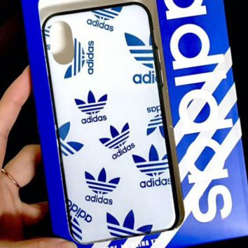 Adidas New fashion letter leaf protective cover phone case White