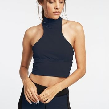 Michi Navy Extension Crop Top