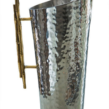 Nickel/Gold Bamboo Pitcher