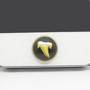 1PC Retro Epoxy Sharp Teeth Transparent Time Gems Alloy  Cell Phone Home Button Sticker Charm for iPhone 4s,4g,5,5c, iPad Kids Gift