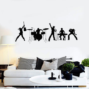 Vinyl Wall Decal Rock Band Music Musical Art Teen Room Stickers Unique Gift (ig4608)