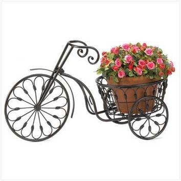 Bicycle Home Garden Decor Iron Plant Stand