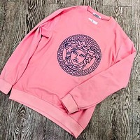 Versace Women Fashion Casual Long Sleeve Sport Top Sweater Pullover Sweatshirt