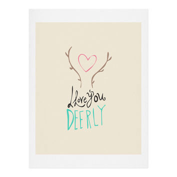 Allyson Johnson Love you deerly Art Print