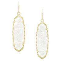 Kendra Scott Layla Earrings - Crushed Ivory Mother of Pearl