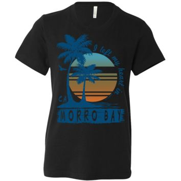 Morro Bay Palm Trees Asst Colors Youth T-Shirt/tee