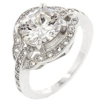 Antique Style Engagement Ring (size: 08)