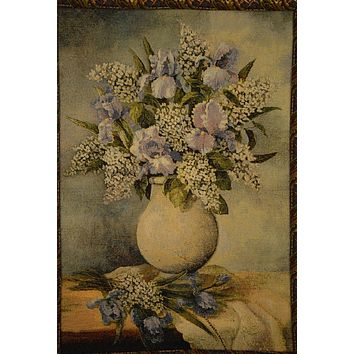 Tache 27 x 20 Inch Captured Wildflowers Floral Tapestry Wall Hanging With Hanging Loops (TAWH-DC14110)