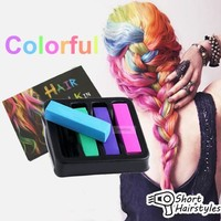 4pcs Colorful Hair Crayon Temporary Color chalk for coloring hair dye Pastels Kit DIY Styling tools creme para cabelo set