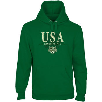USA Swimming St. Paddy's Pullover Hoodie - Green