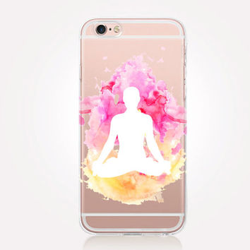 Transparent Meditation iPhone Case - Transparent Case - Clear Case - Transparent iPhone 6 - Transparent iPhone 5 - Transparent iPhone 4