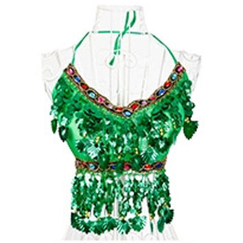 New Sexy Handmade Belly Dance Bra tops Crystal Sequins Beads Bells Peppers Costumes Hot