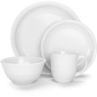 Mainstays 16-Piece Stoneware Dinnerware Set, Assorted Colors - Walmart.com