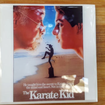 Single Tile Drink Coaster Karate Kid 80s Movie Poster Daniel-san Mr. Miyagi Kobra Kai Drink Coaster
