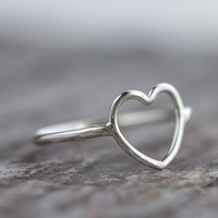 Valentine Heart Ring Sterling Silver