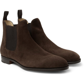 John Lobb - Chesland Suede Chelsea Boots | MR PORTER