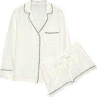 Equipment - Lilian washed-silk pajama set