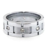 Men's Diamond  Wedding Band - Link Up