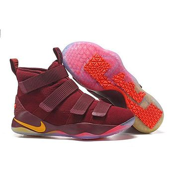 Nike Men's Lebron James Soldier 10 Cav Red Basketball Shoes
