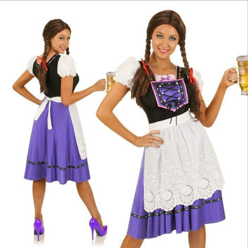 Waitress Cosplay Anime Cosplay Apparel Holloween Costume [9211524676]