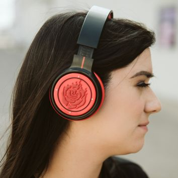 RWBY Ruby Rose Bluetooth Headphones