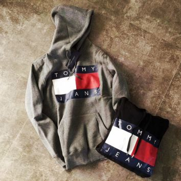 """ Tommy Hilfiger "" Woman/Man Fashion Hooded Top Pullover Sweater Sweatshirt Hoodie"