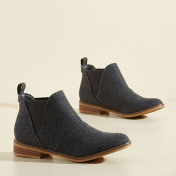 Used Book Browsing Bootie in Charcoal | Mod Retro Vintage Boots | ModCloth.com