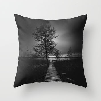 On the wrong side of the lake 9 Throw Pillow by HappyMelvin