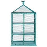 Blue Iron Shelf with Wire Doors | Shop Hobby Lobby