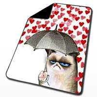 Grumpy Cat for Blanket, Throw Blanket, Fleece Blanket, Custom Blanket