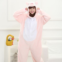Cartoons One-piece Animal Home Pink Sleepwear [6819635399]
