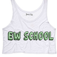Ew School Crop Tank Top