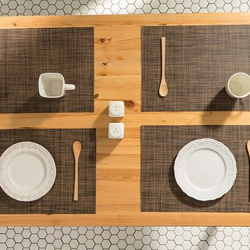 Mocha Woven Table Placemats