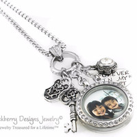 Personalized Necklace Birthstone Locket