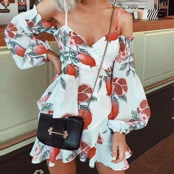 Pomegranate Chic Open-Shouldered Dress