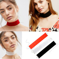 5Pcs Women Black Velvet Choker Necklaces Wide Ribbon Jewelry Gothic Punk Neckalce Handmade Goth Jewelry#83119