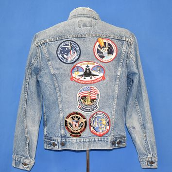 80s Levi's NASA Patch Denim Jacket Large