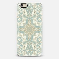 Soft Sage & Cream hand drawn floral pattern iPhone 6 case by Micklyn Le Feuvre | Casetify
