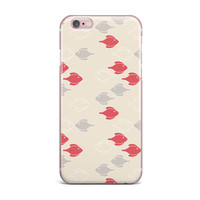 "Gukuuki ""Mayan Fish"" Beige Magenta iPhone Case"