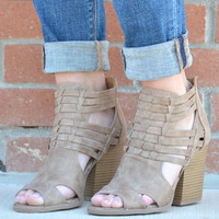 Basically Perfect Bootie - Taupe