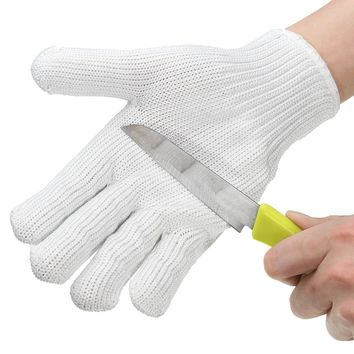 Cut Resistant  Anti-cutting Gloves Wearable Anti-glass Scratches White Wire Work Gloves Safety Gloves Cut Metal Mesh Butcher
