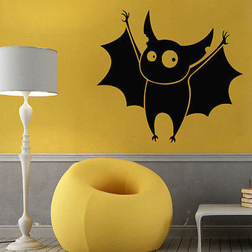 Wall Decals Vinyl Decal Sticker Art Mural Kid Decor Halloween Cute Baby Bat Kj64