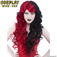 Cosplay Wigs USA™ Character <br> DC Comics - Harley Quinn