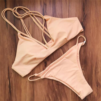 Fashion Braided rope Bikini Swimsuit Swimwear
